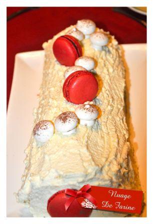 Bûche ivoire-passion à la mousse au chocolat