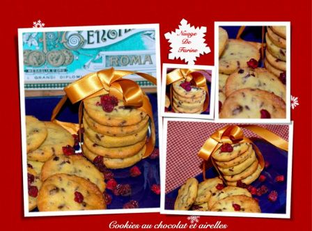 Cookies au chocolat et airelles