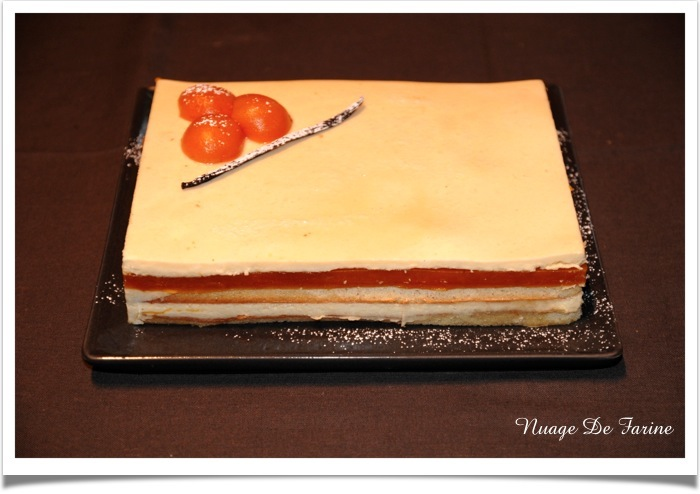 Gâteau vanille-abricot