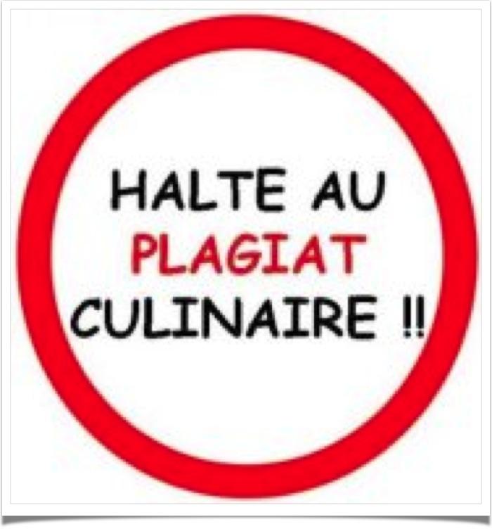 Halte au plagiat culinaire!