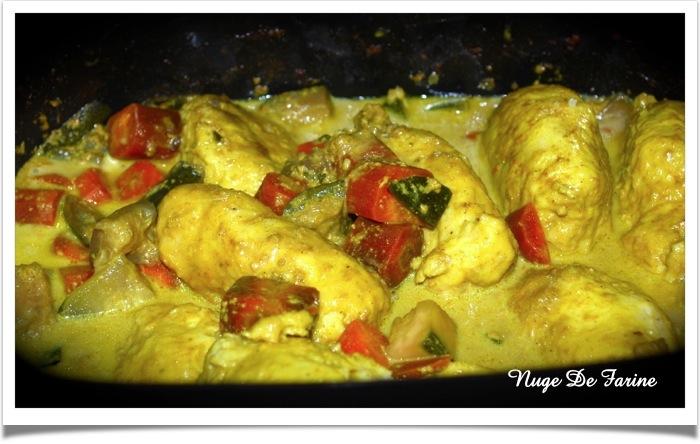 Quenelles de volaille et curry de quenelles à la mijoteuse