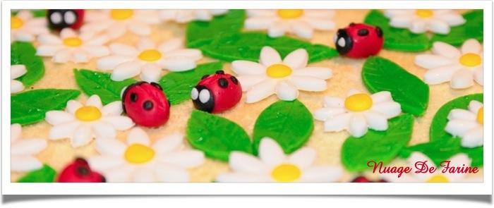Pour célébrer le début des vacances….Gâteau à la mousse de fraises