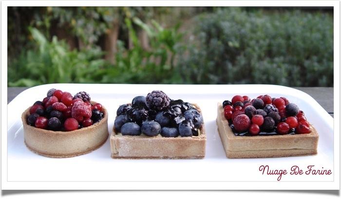 Tartelettes aux myrtilles et fruits des bois pour entrer dignement dans l'automne….