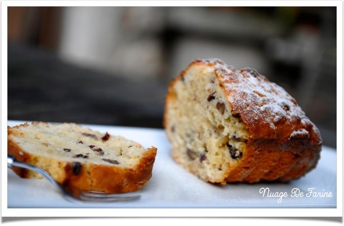 Cake gourmand à la noix de coco, aux airelles et aux noisettes