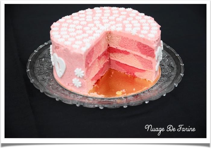 Rose un jour, rose toujours….ou le gâteau très girly….