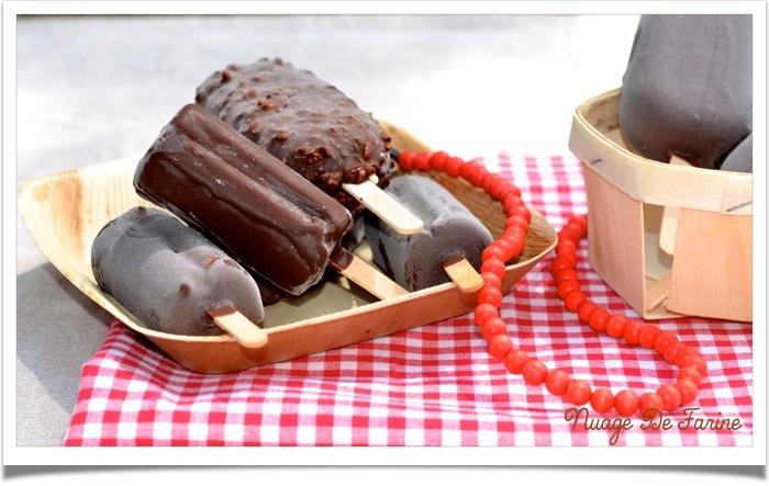 Encore des glaces!…. fraise, tiramisu et chocolat blanc