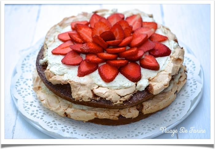 Gâteau presque tout en un…. ou gâteau chocolat meringué