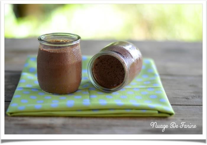 Flans au chocolat sans oeufs