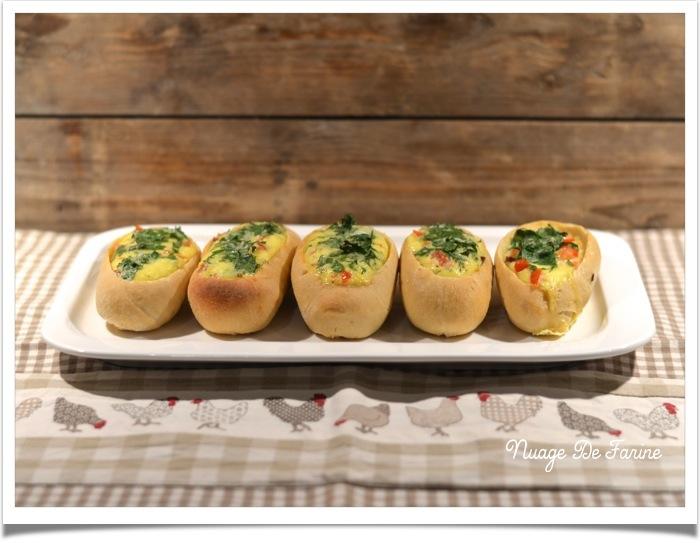 """Egg boats ou """"barquettes"""" aux oeufs"""