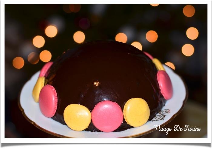 Dôme de mousse chocolat caramel ou bûche qui roule…..