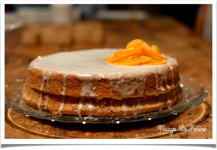 Gâteau nuage à l'orange