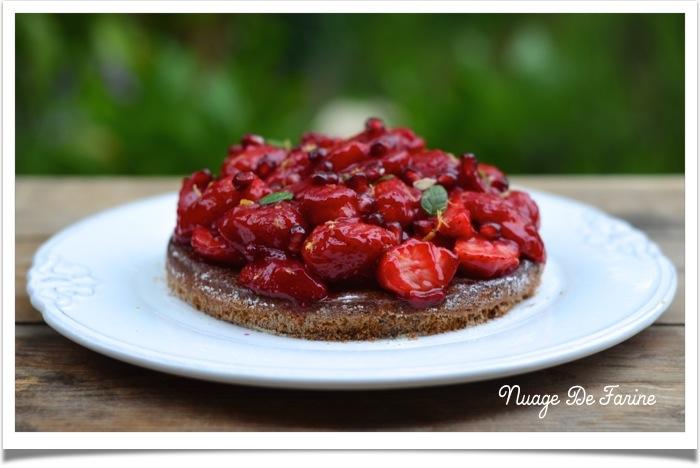 Tarte aux fraises, comme un goût de paradis…..