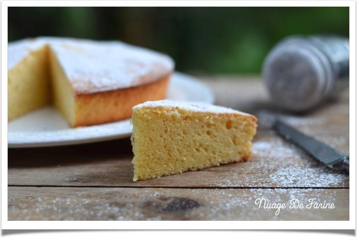 Gâteau citronné au léger goût de coco….