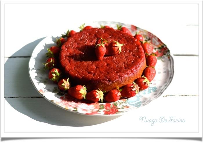 Fondant aux fraises et amandes