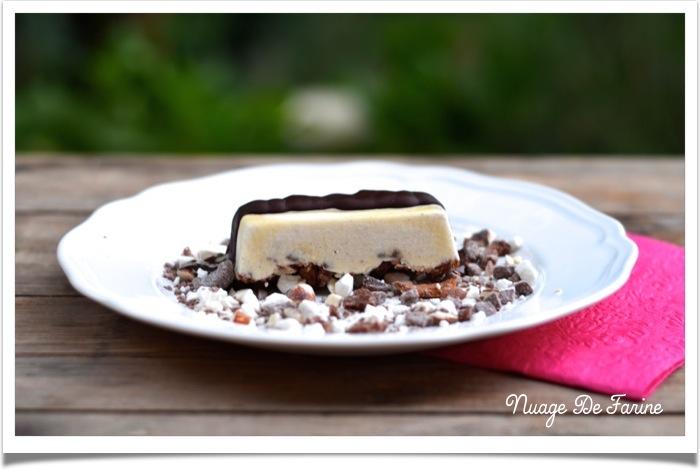 Semifreddo amande, chocolat, meringue