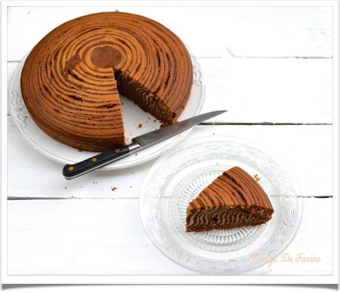 Un zèbre dans la cuisine….. ou le fameux zébra cake…..