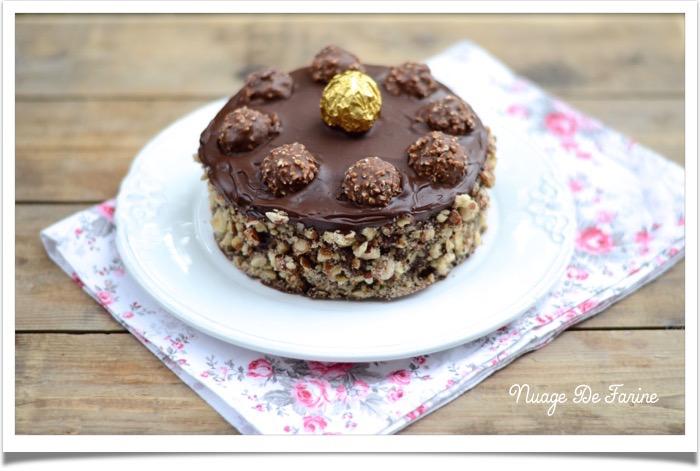 Gâteau aux Ferrero rochers2