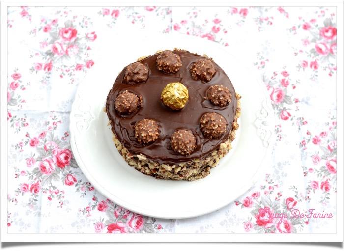 Gâteau aux Ferrero rochers3