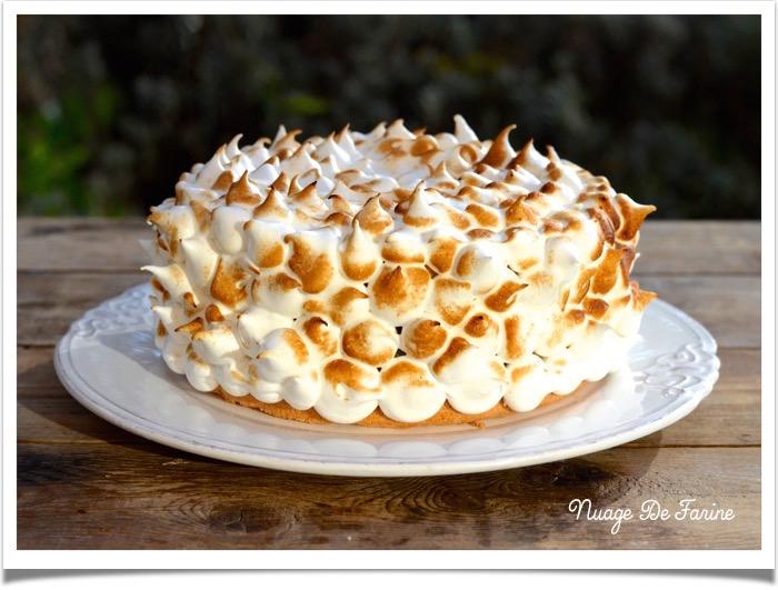 Gâteau des anges au lemon curd meringué