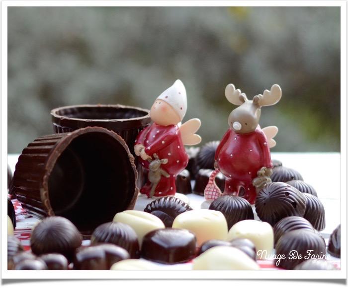 Du chocolat et encore du chocolat….tempérage/petits chocolats/pralines/petits bols en chocolat  …. eh oui …. tout ça!!