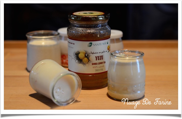 Yaourts au yuzu, au sirop de vanille ou à la banane