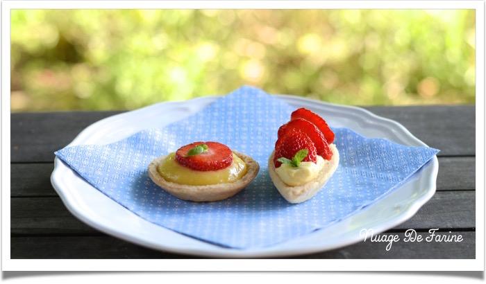 Tartelettes/barquettes fraise ou citron