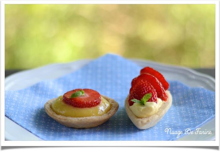 Tartelettes ou barquettes? aux fraises ou au citron?