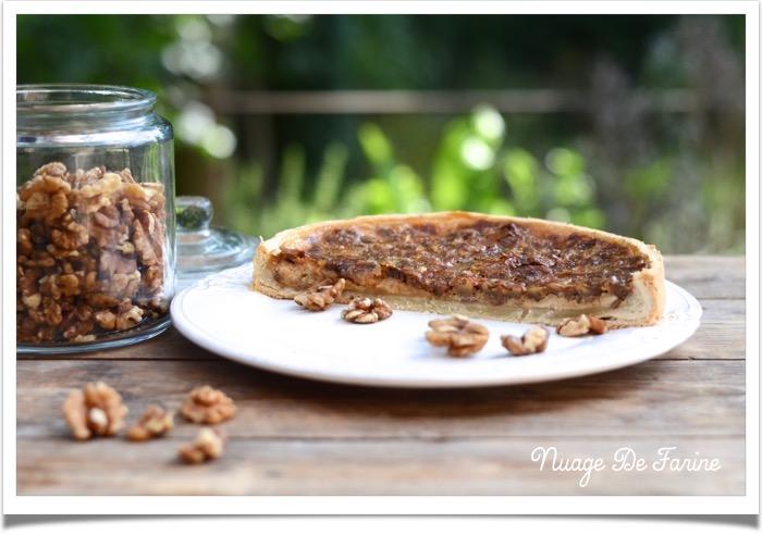 """Tarte """"gâteau"""" aux noix"""