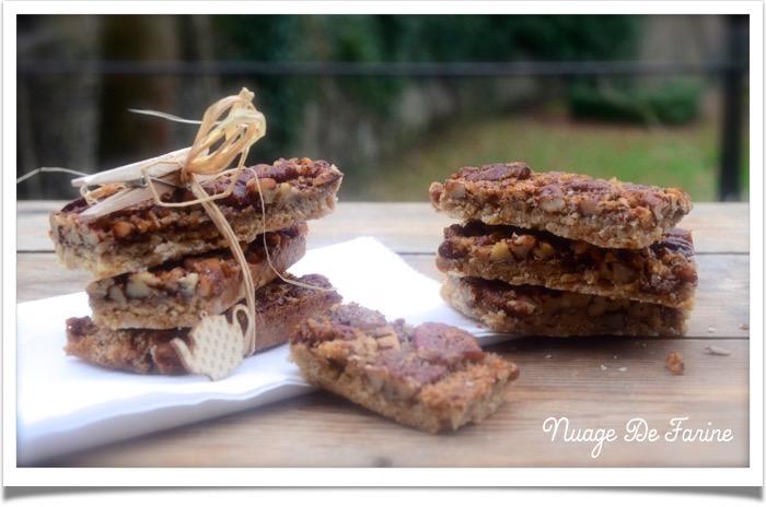 Barres aux noix de Pécan sans lait ni gluten
