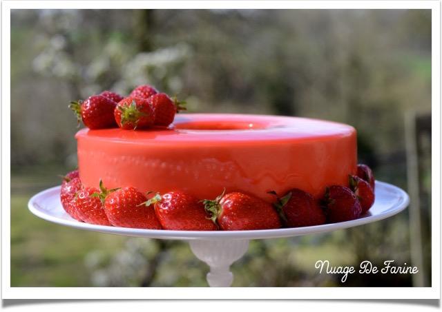 Gâteau à la mousse de fraises et ricotta2
