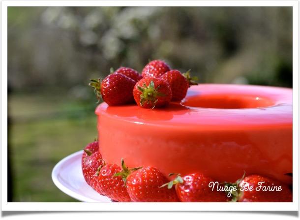 Gâteau à la mousse de fraises et ricotta6