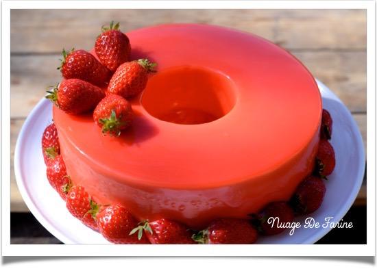 Gâteau à la mousse de fraises et ricotta5