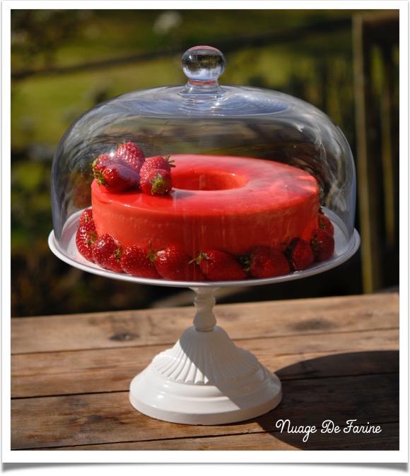 Gâteau à la mousse de fraises à la ricotta