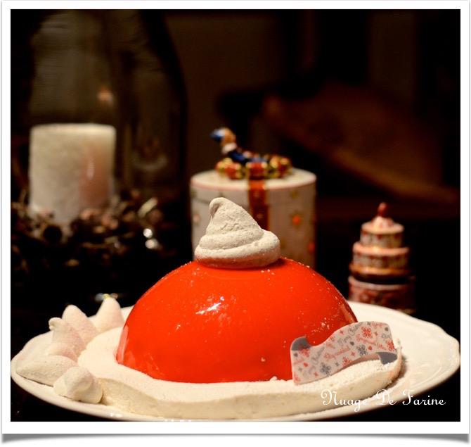 Le bonnet du Père Noël ou bombe glacée (ou pas!) aux cerises