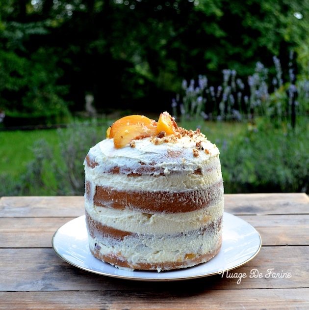 Naked cake aux pêches