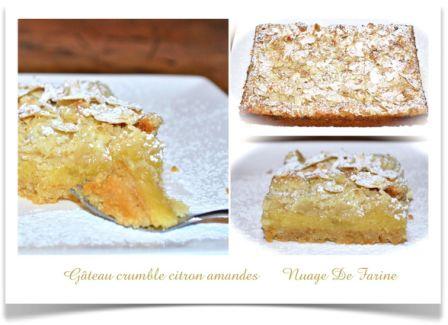 Gâteau-crumble citron amandes