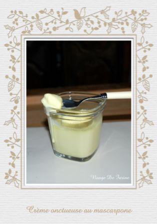 Crème onctueuse au mascarpone