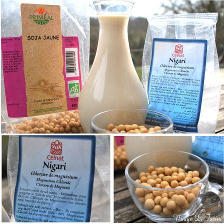 Lait de soja et tofu soyeux