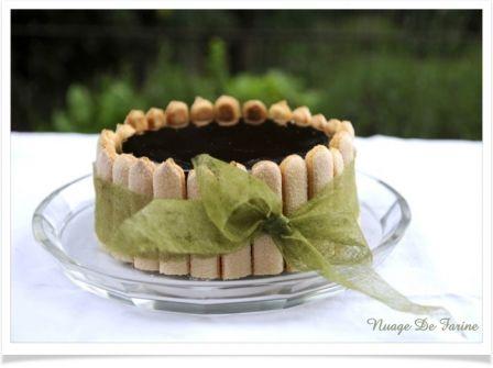 Gâteau miroir aux framboises et amandes