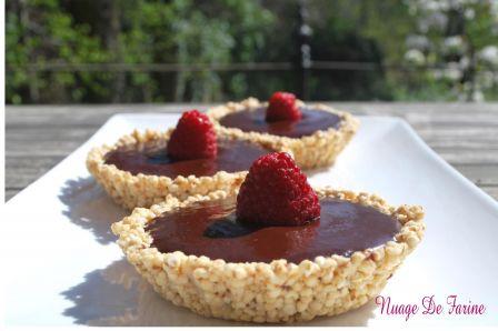 Tartelettes chocolatées au quinoa soufflé