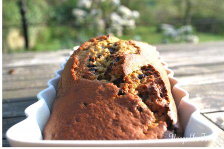 Cake banane-chocolat version bis