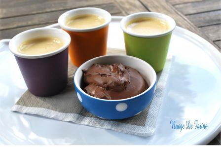 Petites crèmes gourmandes au lait de soja