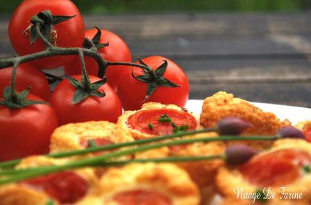 Petites bouchées aux tomates cerise
